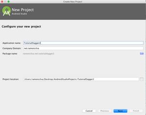 Criando um novo projeto android