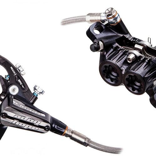 Hope Tech 3 V4 203mm Scheibenbremsenset Modell 2021 mit innenbelüfteten Scheiben