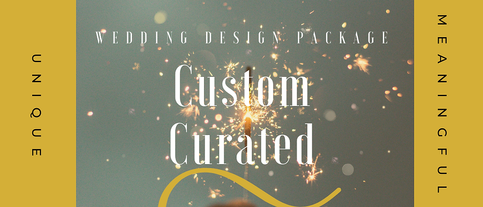 Custom Curated - Wedding Design Package