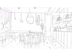 cafe in ny sketch