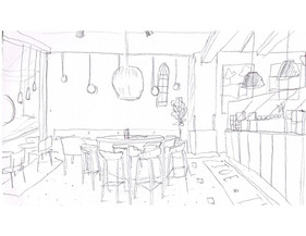 cafe in ny sketch