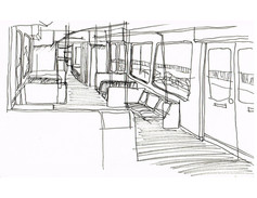 train ride to work