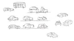 car page doodle