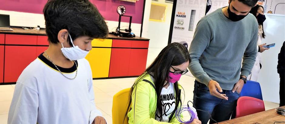 Começam as aulas presenciais do Projeto em parceria entre a A5 Maker e Educação de Barueri.