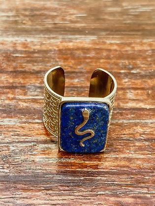 Soldalite Snake Ring