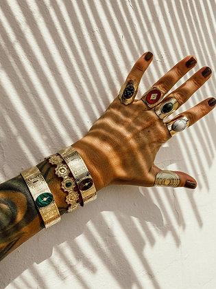Green morningstar bracelet malachite Stone