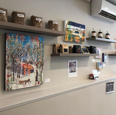Art, coffee, jam and maple syrup