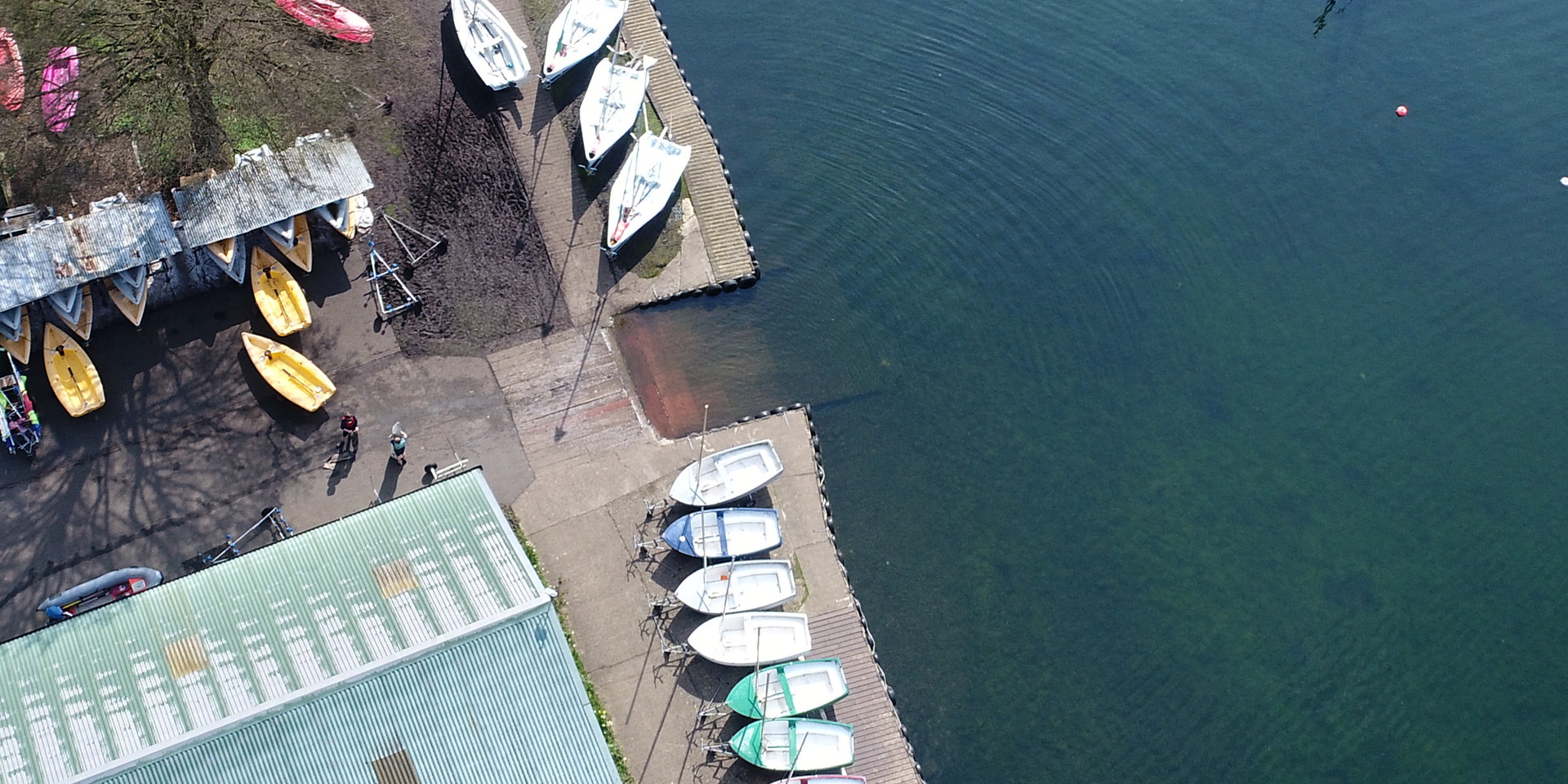 Drone Aerial photo of boats on lake