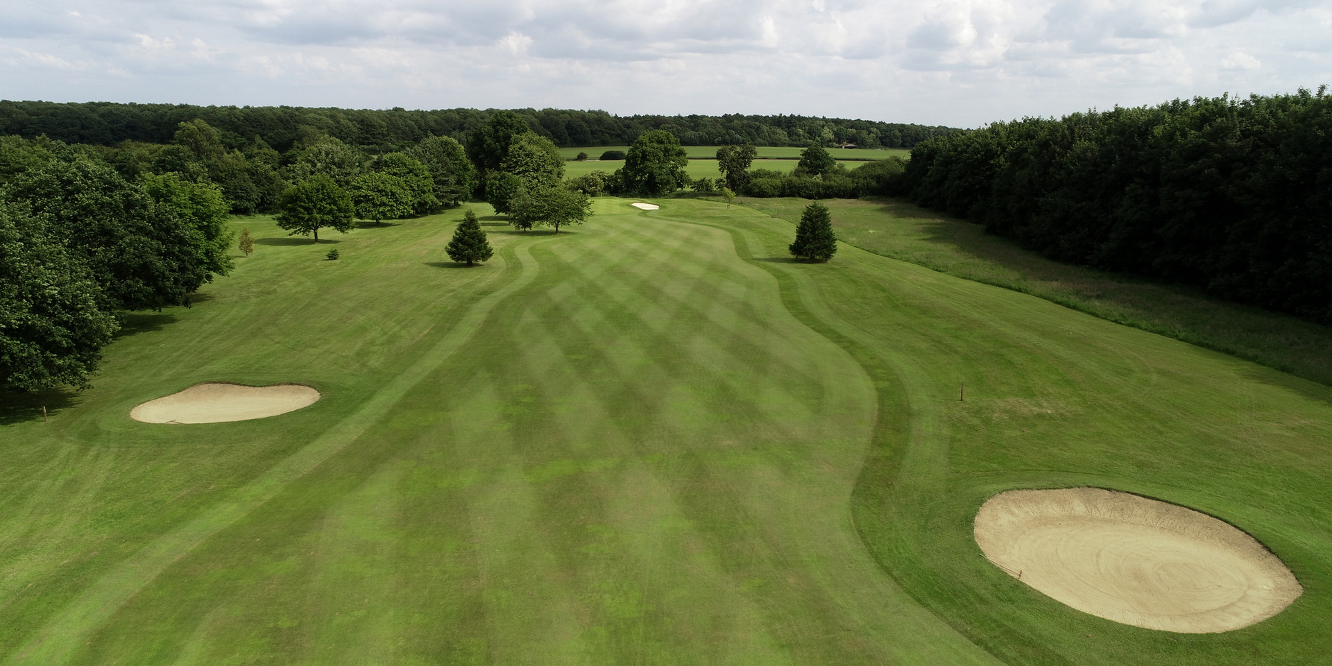 Drone aerial photo of golf course2