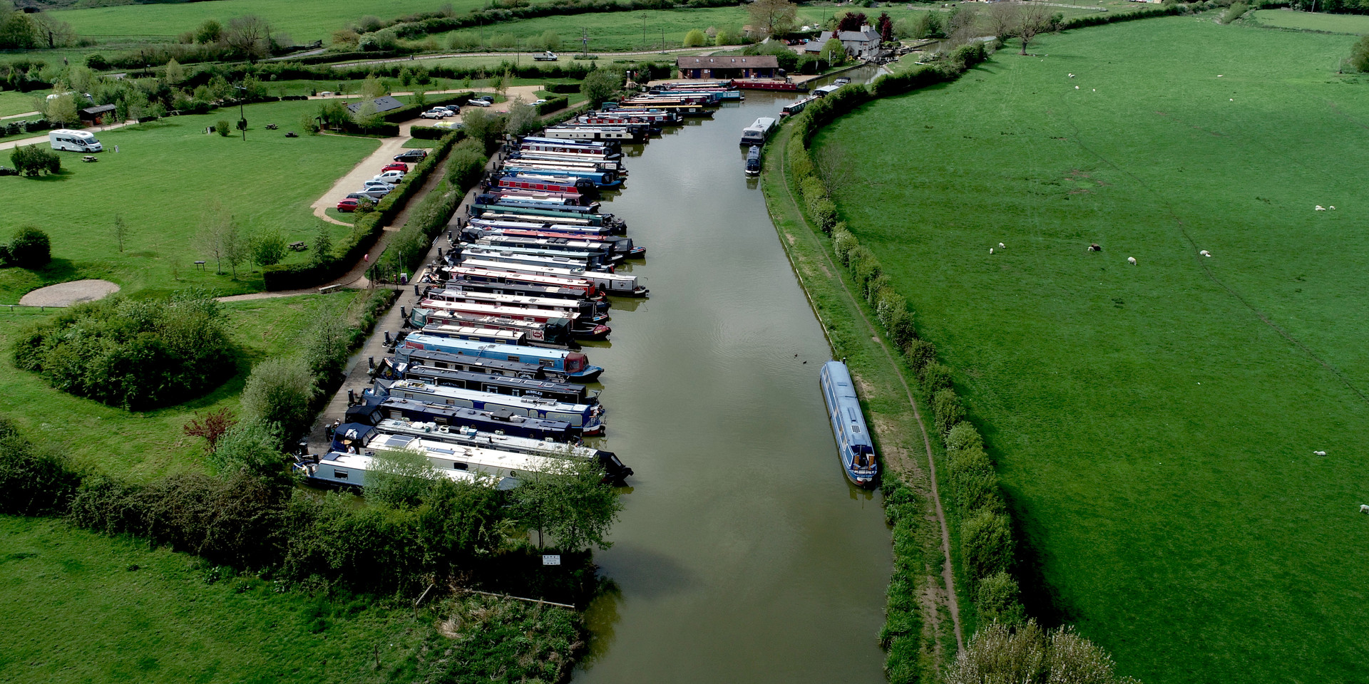 Canal barges in Marina