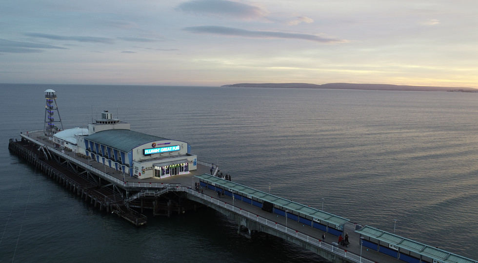 Bournemouth Pier at dusk