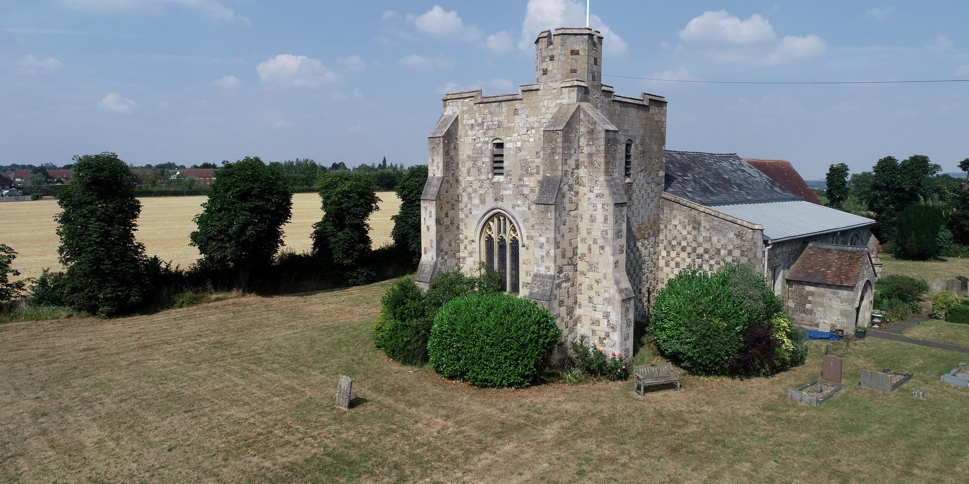 Drone Aerial photo of Church
