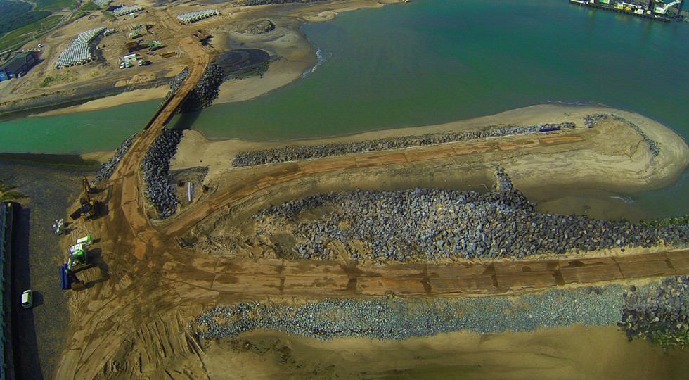 Drone Aerial photo of land reclaiming project