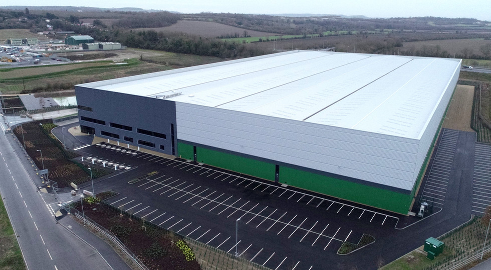 Warehouse aerial image