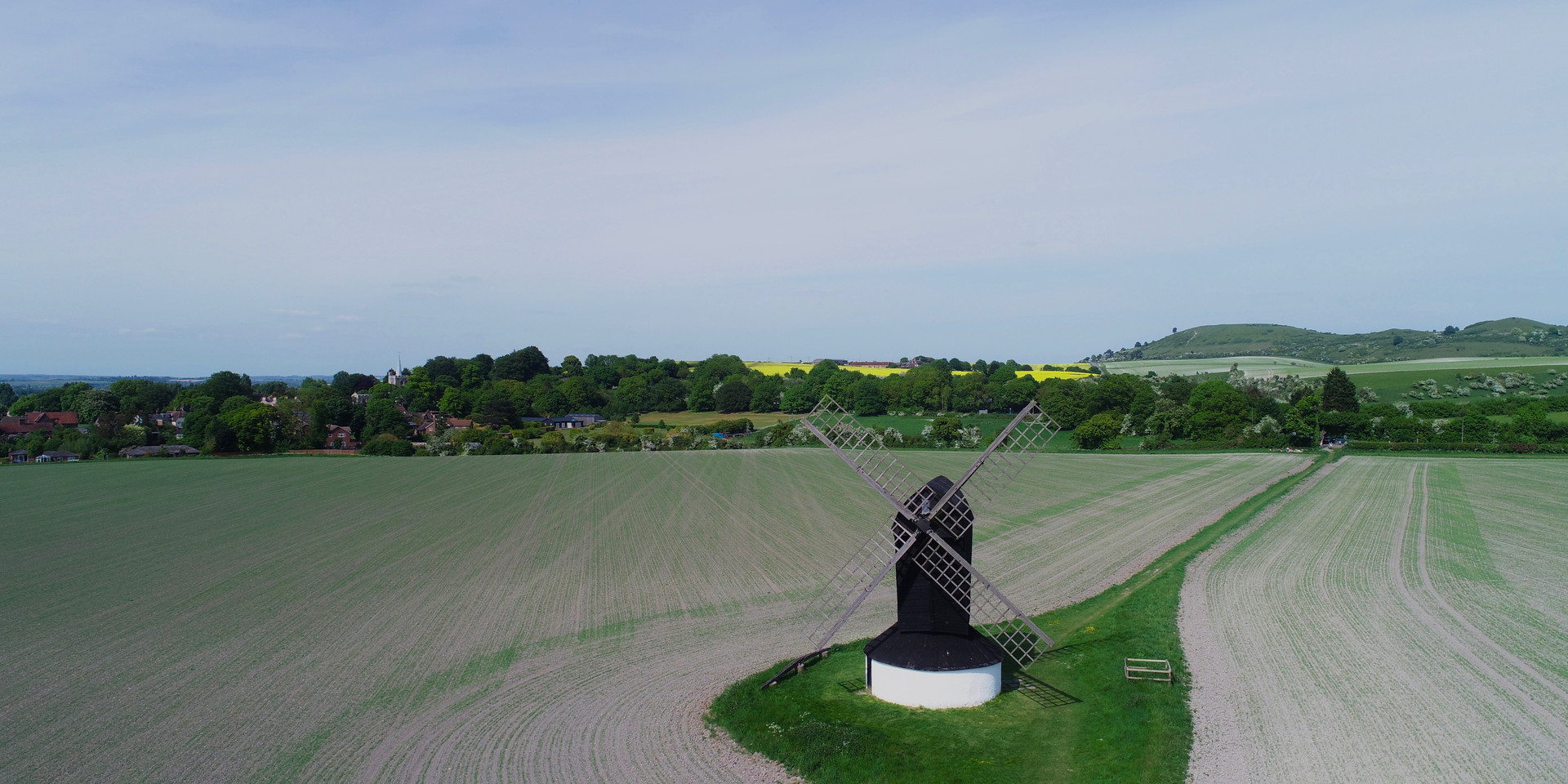 Drone Aerial photo of windmill