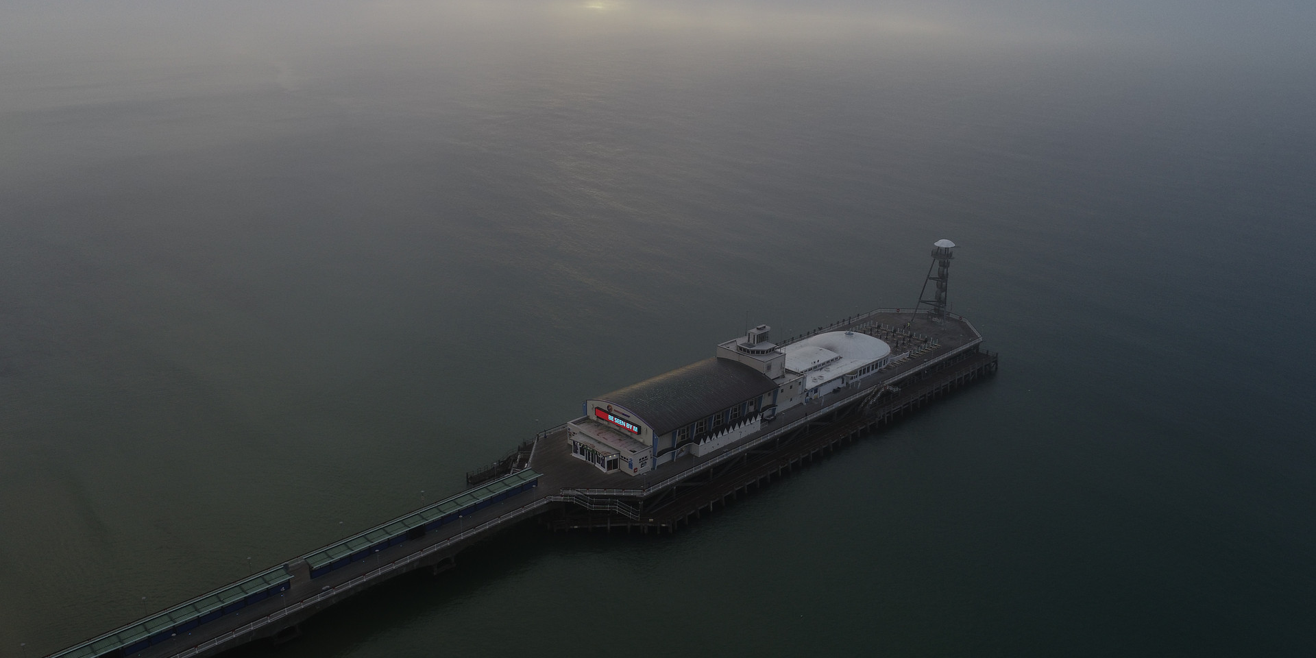 Bournemouth Pier in the mist