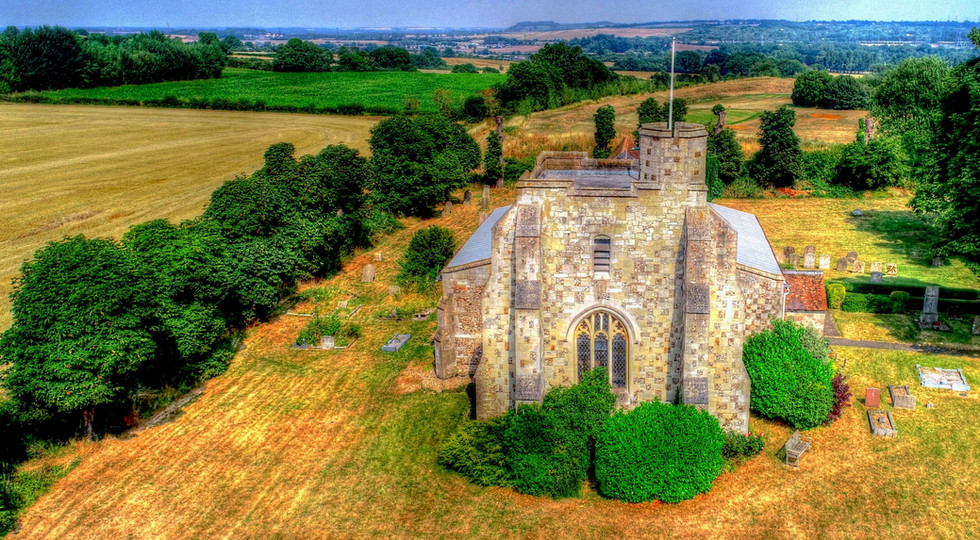Aerial HDR Photo of Church