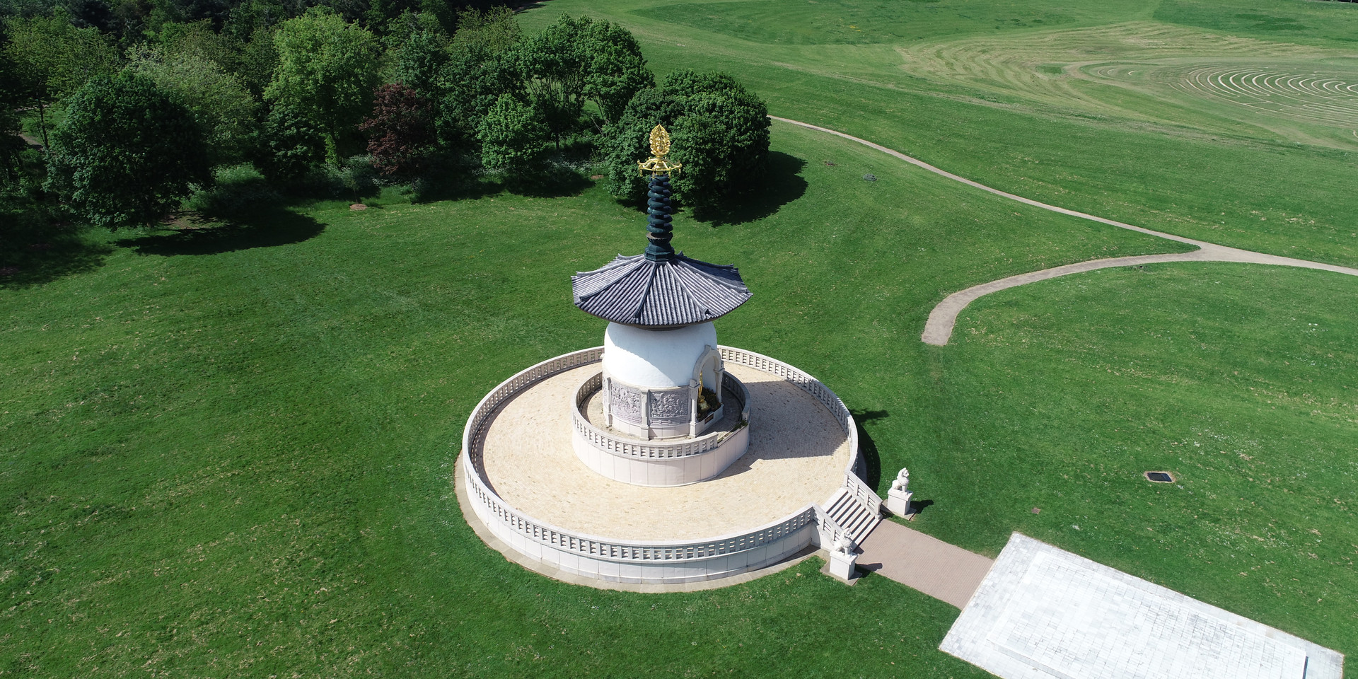 Drone Aerial Photo of Pagoda