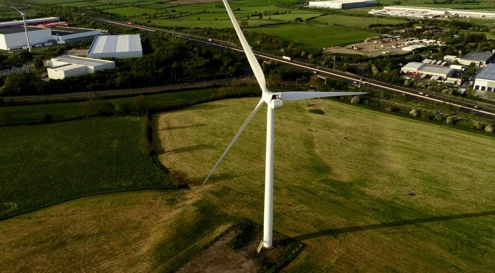 Wind Turbine rear view