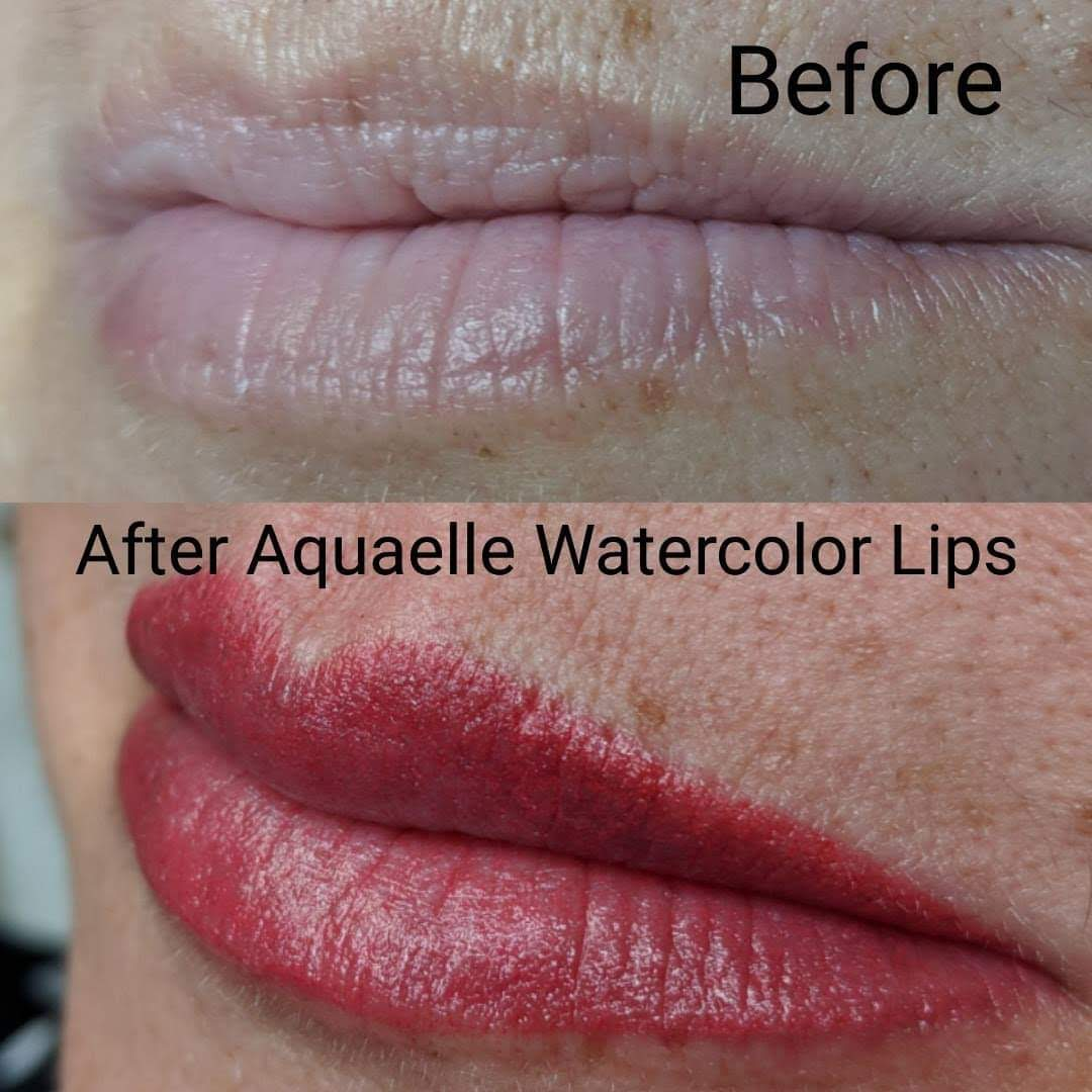 Aquarelle Watercolor Lips