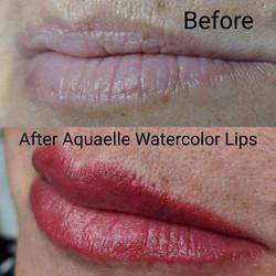 Aquarelle Watercolor Lips
