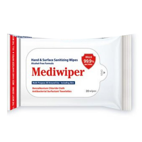 Mediwiper 100 Wipes Body Hand Face Wipes
