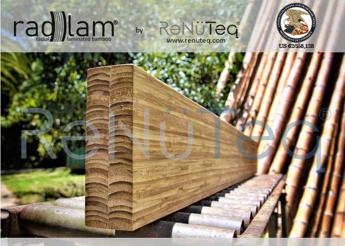 """ReNüTeq implements it's new Patented Structural Material: """"RadLam®"""""""