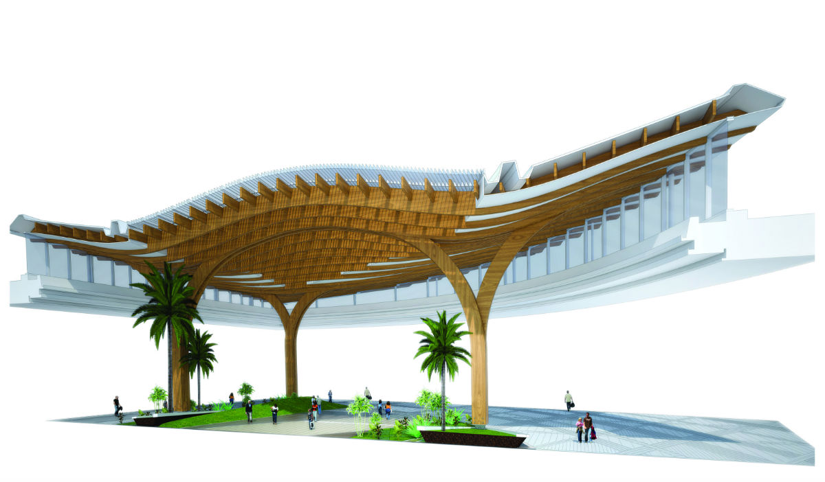ReNuTeq - Canopy System-4 - Engineered Bamboo Structure