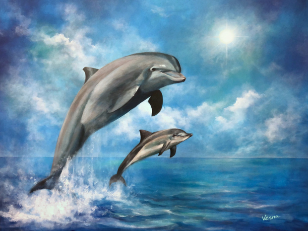 Wave Of Joy - The finished art work comm