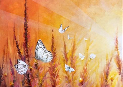 """""""Light Butterflies"""" -20""""x16""""x0.5"""" i"""