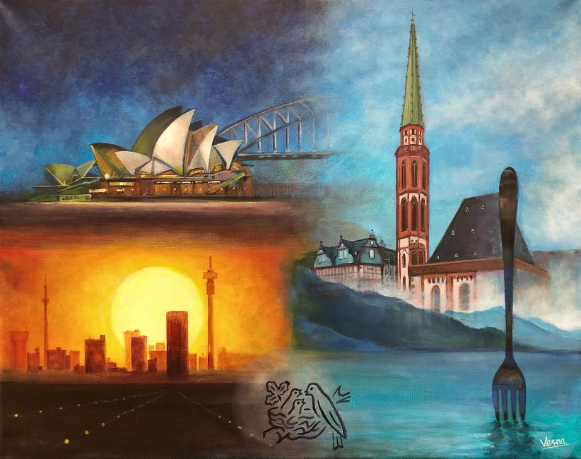 Commssion - Acrylic on Canvas - Nestle I