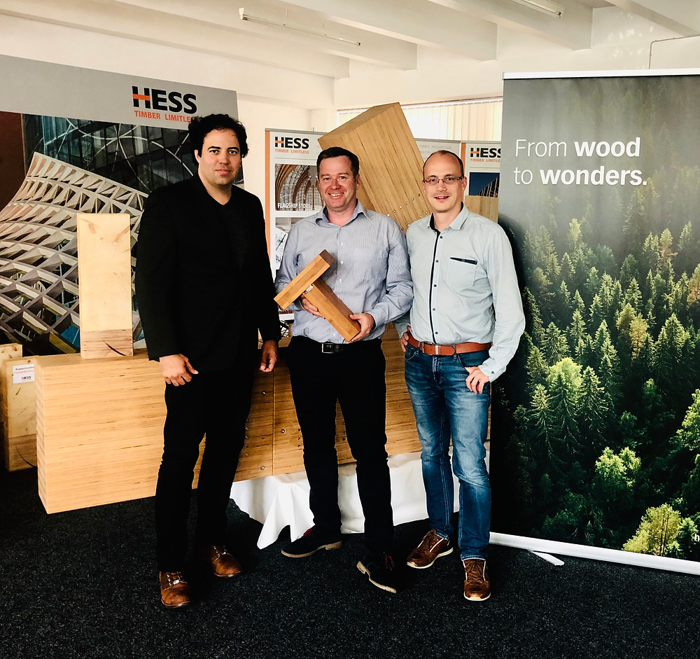 Luke Schuette with HESS Timber - Structural Engineered Bamboo Glu Lam Beams ASTM Standards