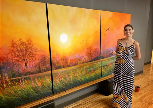 """Gift Of Nature"""" - 5'x12' Triptych"""