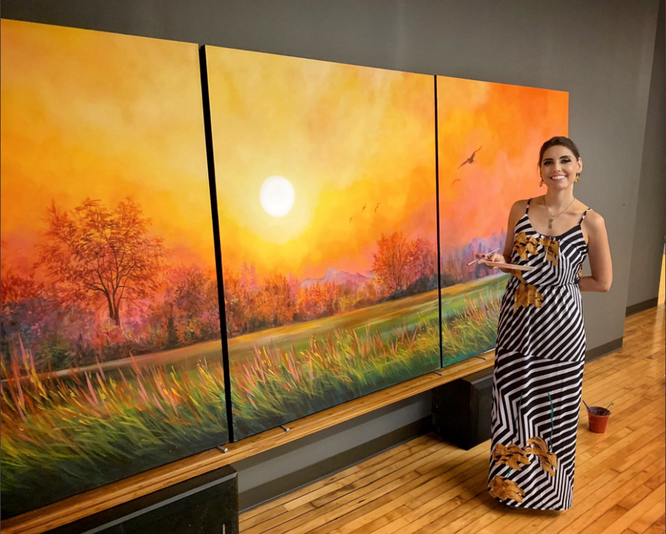 """Gift Of Nature"""" - 5'x12' Triptych - Acry"""