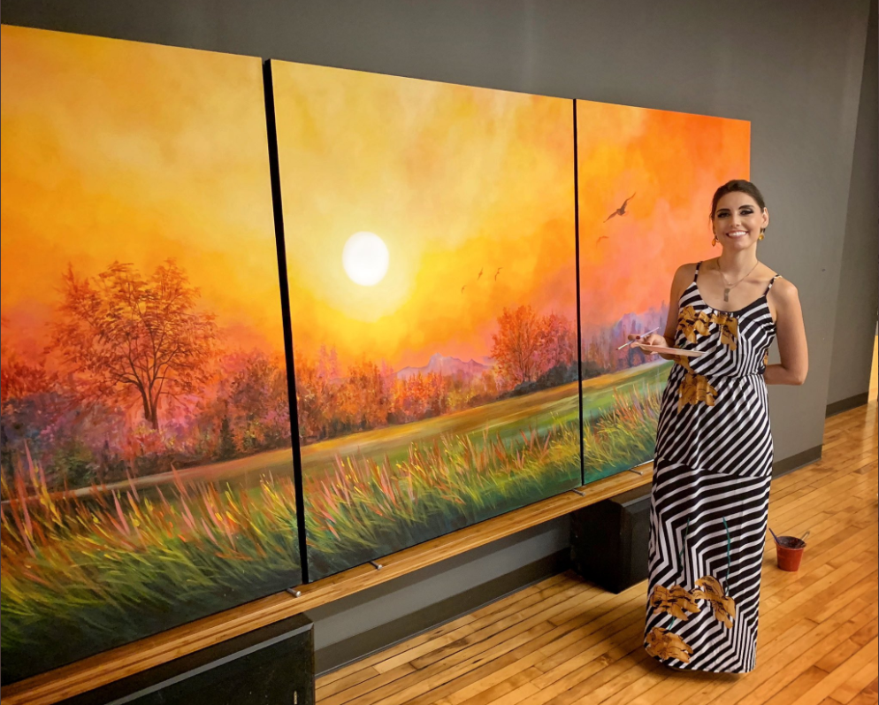 "Gift Of Nature"" - 5'x12' Triptych - Acry"