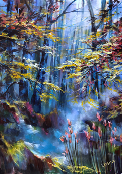 """Forest Sounds"" - 48""x36""x0.5"""