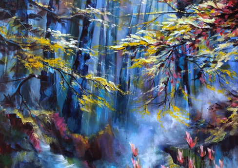 """""""Forest Sounds"""" - 48""""x36""""x0.5"""""""