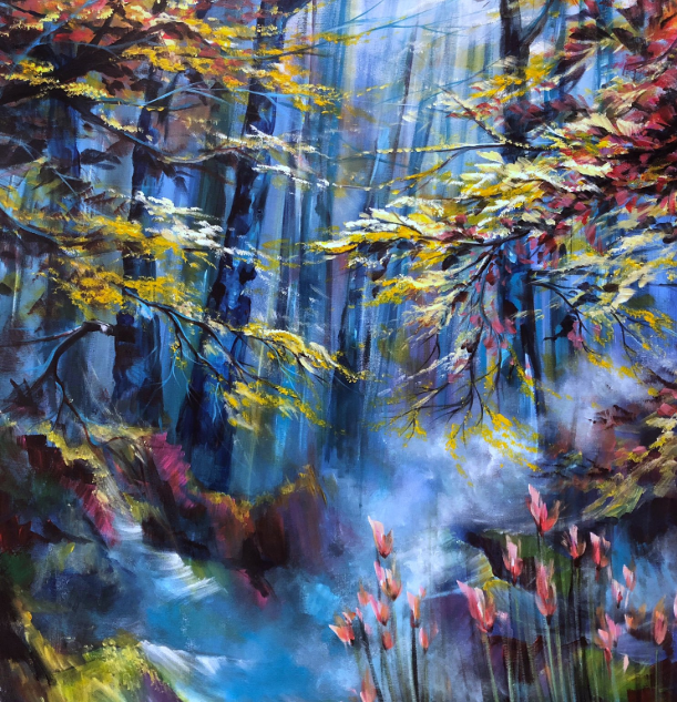 """Forest Sounds"" - 48""x36""x0.5"" Acrylic o"