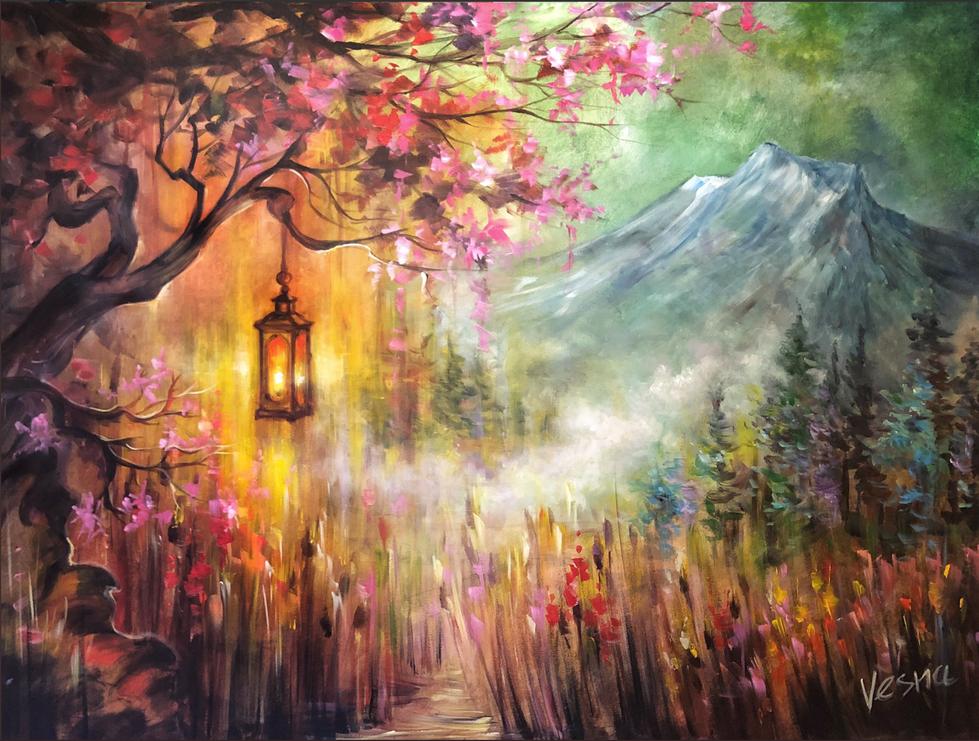 "Lighting_The_Way_-_36""x48""_Acrylic_on_Ca"