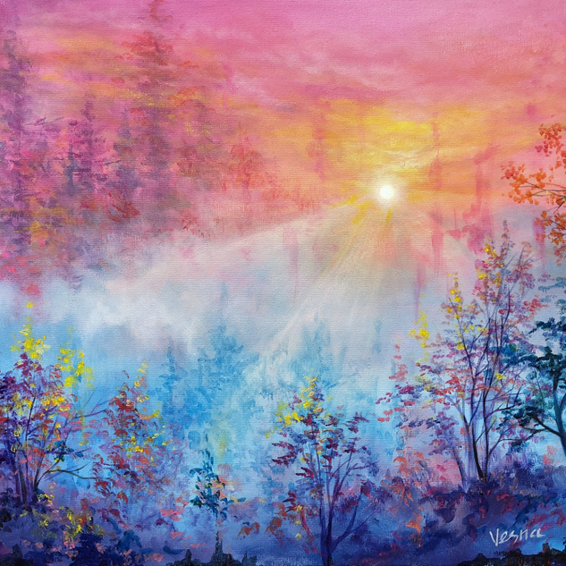"""Luminescence"" - 16""x20""x0.5"" Acrylic on"