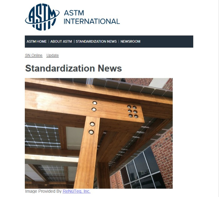 ASTM Standardization News - Revision Adds Structural Engineered Bamboo to ASTM Standard - ASTM 5456