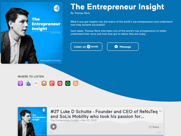 The Entrepreneur Insight By Thomas Reck - SoLiS & ReNuTeq