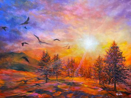 """Radiance"" - 36""x48"" Acrylic on Canvas"