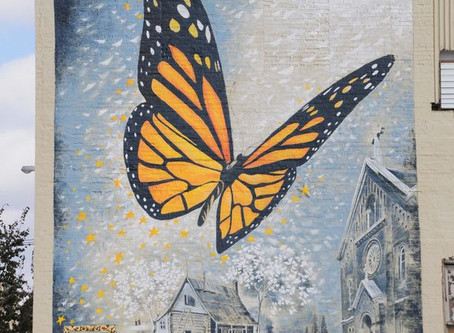 Butterfly Mural in St. Louis