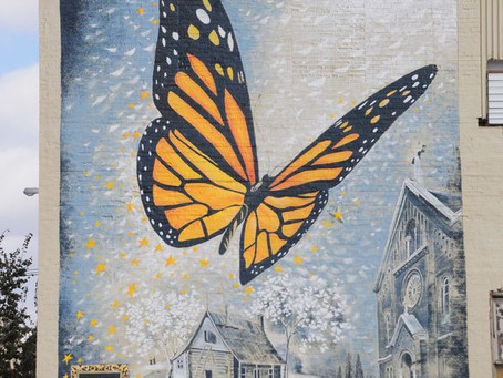 "Butterfly Mural in St. Louis - ""The Monarch"""