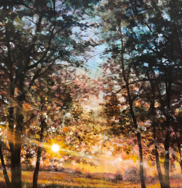 """Beautiful Day"" - 20""x16"" Acrylic on Can"