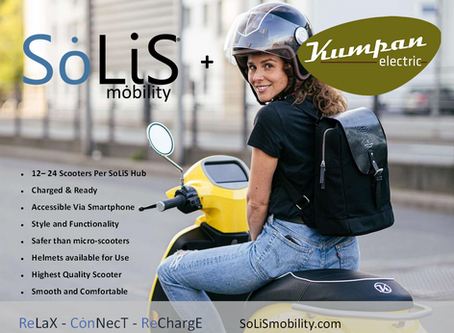 Ultimate Style and Function - Kumpan Electric Scooters at SoLiS Hubs Internationally.