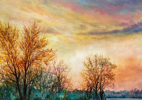 """""""Sunny View"""" - 48""""x36"""""""