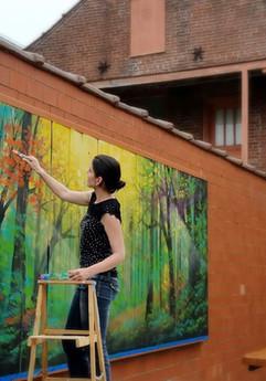 """""""Red Bird"""" - Mural"""