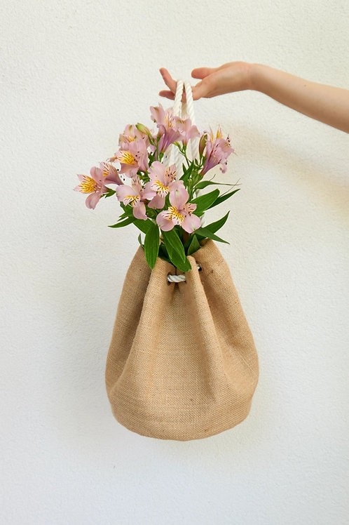 Jute Bucket Bag Mini
